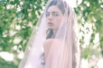 wedding photo - Romantic long Blush Wedding Veil, Chapel or Cathedral length Two Tier Pink or Ivory Bridal Veil