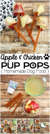 wedding photo - Apple & Chicken Pup Pops