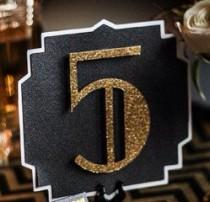 wedding photo - The Great Gatsby Wedding Table Numbers