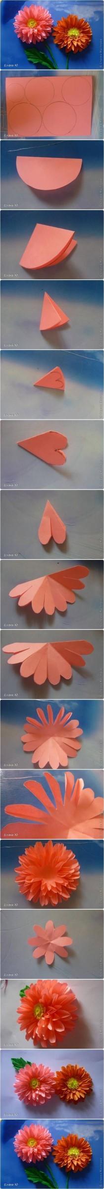 wedding photo - How To Make Paper Dahlias