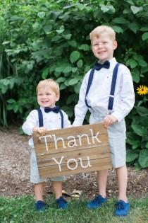 wedding photo - The Grooms' Adorable Sons Help Make This Rustic Wedding So Sweet