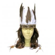 wedding photo - Feather Headdress, Boho Bridal Headpiece, Feather Wedding Hairpiece, Costume Headdress, Bohemian Bridal Headpiece, Feather Crown