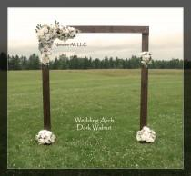wedding photo - Rustic Wedding Arch With Large Platform Stands/For Indoor or Outdoor Weddings/Dark Walnut:Item# DWA-5425