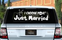 wedding photo - Pokémon Just Married Wedding Vinyl Window Cling Decal