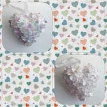 wedding photo - Paper hydrangea heart,  paper hydrangea, flowergirl accessory, wedding accessories, wedding decor, pew decoration, aisle decoration