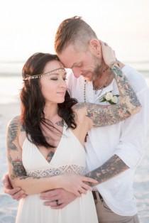 wedding photo - Romantic, Boho & Beachy Elopement