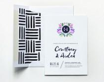 wedding photo - Monogram Invitation