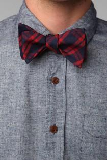 wedding photo - Wool Plaid Bowtie - Urban Outfitters