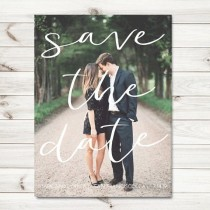 wedding photo - Photo Save The Date Cards, Fall Save The Date Cards, PRINTABLE Save The Date