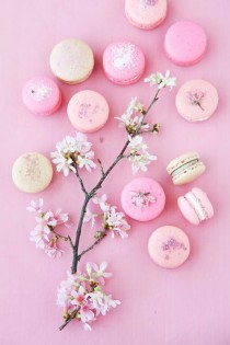 wedding photo - {Recipe} Cherry Blossom Macarons From Cannelle Et Vanille