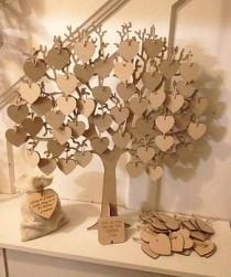 wedding photo - Wishing Tree Large Wooden Guest Book