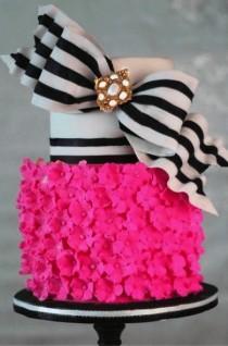 wedding photo - Hot Pink Stripes Wedding Inspiration