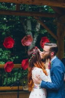 wedding photo - Whimsical Glam Londonderry, Vermont Wedding In The Woods