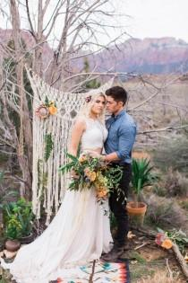 wedding photo - Free Spirited Zion National Park Elopement Inspiration