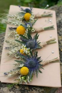 wedding photo - Sunflowers In September - Jo And Tom's Rustic Farm Wedding.