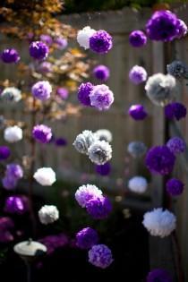 wedding photo - DIY Hanging Tissue Paper Flowers Tutorial