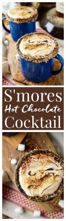 wedding photo - Campfire S'mores Hot Chocolate Cocktail
