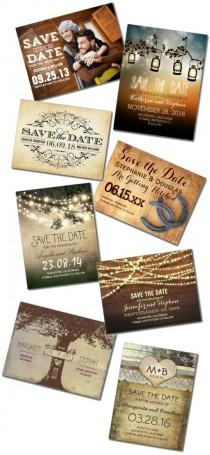 wedding photo - Rustic Save The Date Postcards & Postcard Template Designs