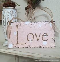 wedding photo - READY to SHIP, Love Sign, Sign for Candy Bar, Love, Wedding Signs, 9 x 5
