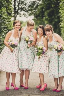 wedding photo - A Very British 50's Retro And Colourful Afternoon Tea Style Wedding