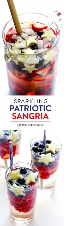 wedding photo - Sparkling Red, White And Blue Sangria