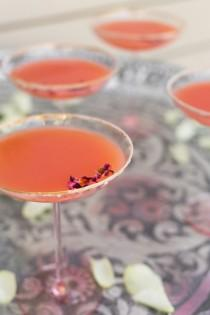 wedding photo - Rhubarb Rose Mezcal Margarita
