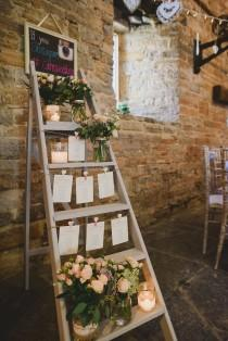 wedding photo - Bride Wears Lace Wedding Dress At A Rustic Wedding In Almonry Barn Somerset. Bridesmaids & Groomsmen Outfits From Debenhams
