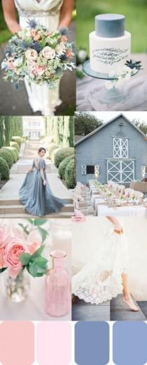 wedding photo - Romantic Rose Quartz And Serenity Wedding Inspiration