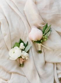 wedding photo - Winter Wedding Boutonniere Ideas: Ranunculus Blooms