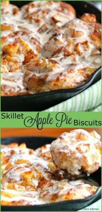 wedding photo - Skillet Apple Pie Biscuits