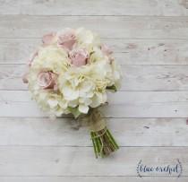 wedding photo - Rustic Bouquet, Fall Wedding Bouquet - Bridal Bouquet, Wedding Bouquet, Vintage Bouquet, Silk Bouquet, Shabby Chic, Cottage Chic Bouquet