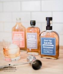 "wedding photo - Custom ""Will You Be My Groomsman"" Bottle Label, For Whiskey, Gin, Bourbon - Best Man Label - Groomsmen Gift - Best Man Gift - Whisky Gift"