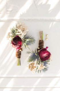 wedding photo - Rustic Fall Boutonnieres