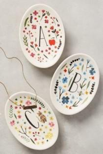 wedding photo - Anthropologie - Anthropologie Monogrammed Meadow Trinket Dish