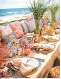 wedding photo - Coastal Style Table Decoration