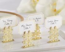 wedding photo - Double Happiness Place Card Holders (Set Of 6)