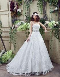 wedding photo - Elegant Sleeveless Lace Wedding Dress