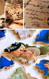 wedding photo - Guestbook Wishes Puzzle
