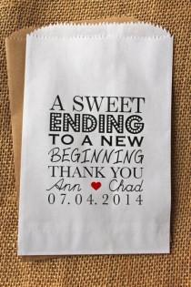 wedding photo - Wedding Favor Bags-Candy Buffet Bags-Wedding Bags Personalized