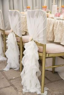 wedding photo - Ruffle Chair Covers