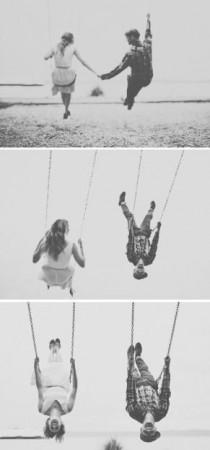 wedding photo - Playful & Intimate Beach, Bicycles & Swings Engagement Shoot