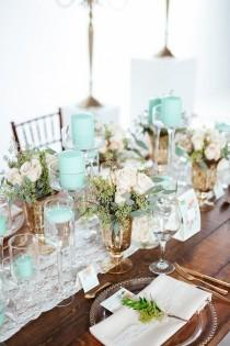 wedding photo - Mint Green Wedding Decoration