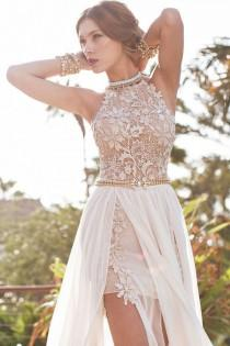 wedding photo - Boho Lace Wedding Dress Bohemian Wedding Boho Bridesmaids Dress - Beach Wedding Dress