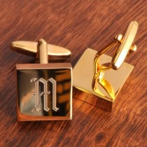 wedding photo - High Polish Brass Cufflinks