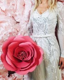 wedding photo - Big Paper Flowers - Big Paper Flower - Big Paper Rose - Paper Flowers