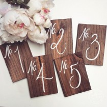 "wedding photo - Wedding Table Numbers, Rustic Wooden Wedding Signs, ""No. Style"", The Paper Walrus"