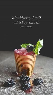wedding photo - Blackberry Basil Whiskey Smash