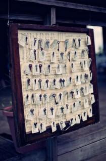 wedding photo - Skeleton Key Escort Cards