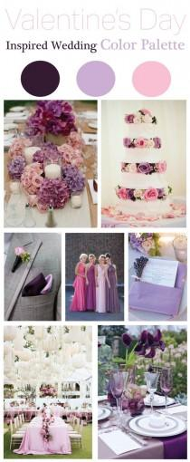 wedding photo - Valentine's Day Inspired Wedding Color Palette Part II