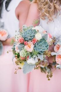 wedding photo - Peach Wedding Bouquet